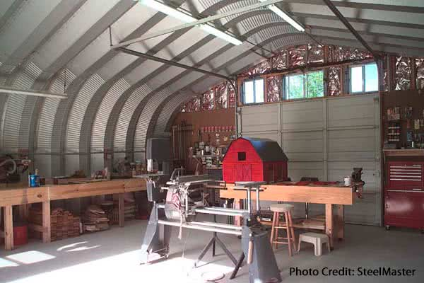 steel quonset shop building