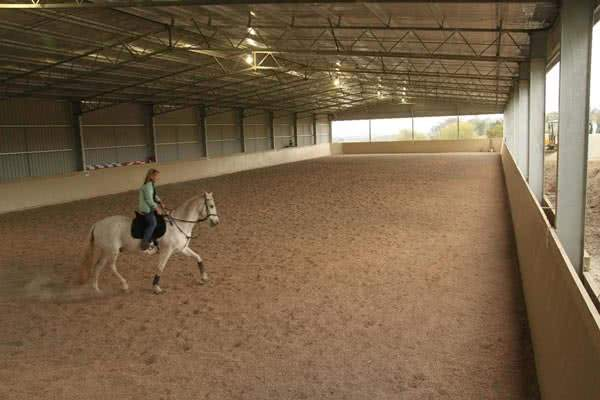covered metal riding arena