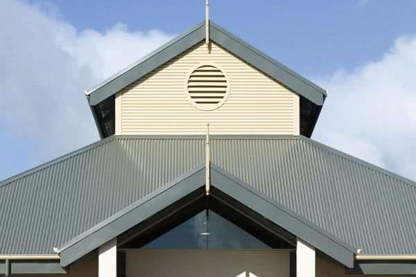 prefab steel church building