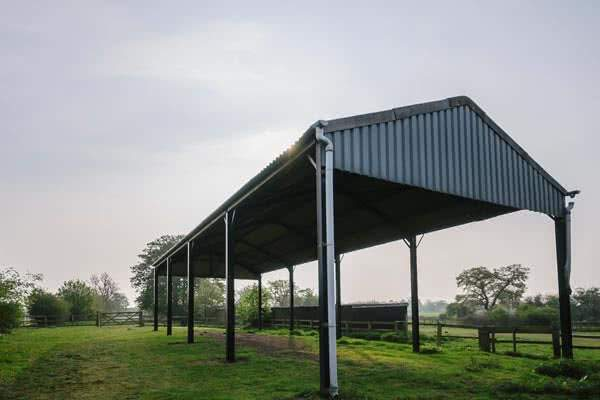 crop and grain storage shed