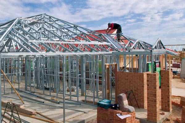 Steel framed homes metal houses online prices estimates for Metal barn over basement