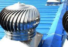 turbine roof vent for steel building