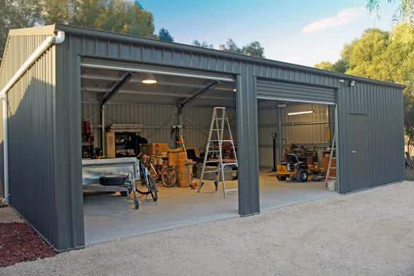 Steel building kits online prices estimates for Diy garage cost
