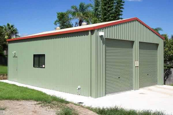 double boat garage building in metal