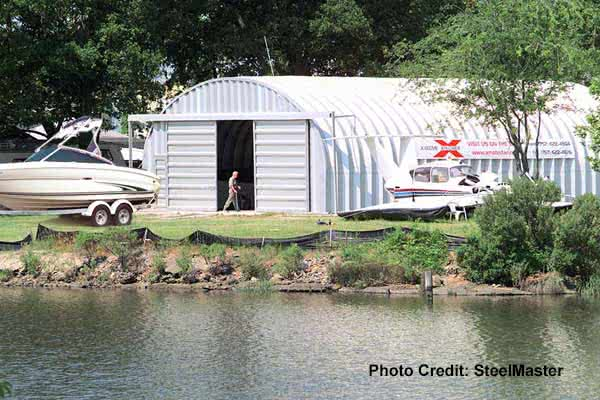 quonset hut boat storage building