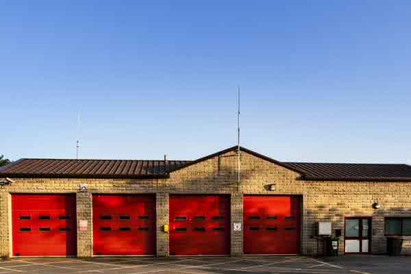 Metal fire hall buildings