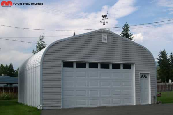 small single car quonset garage building