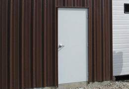 standard metal building walk door