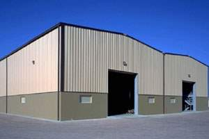 Industrial storage metal building