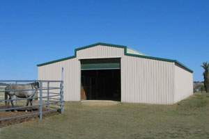 30x40 metal monitor horse barn