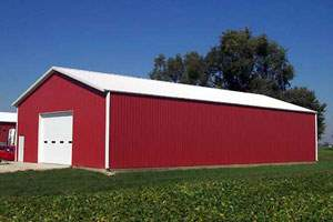 30x40 Metal Horse Barn for Feed Storage