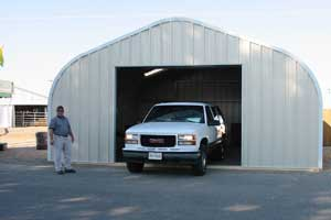 Quonset hut garage kit