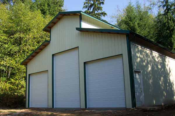 3 Bay RV garage with roll up doors