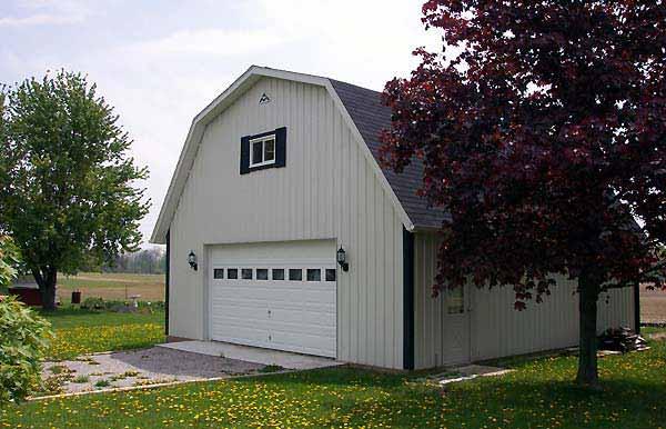 Small Barndominium with garage