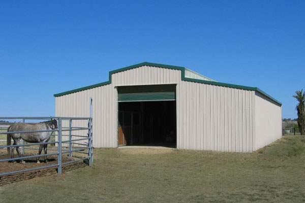 Prefab metal barn