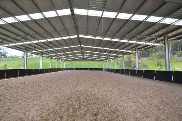 Competition indoor riding arena
