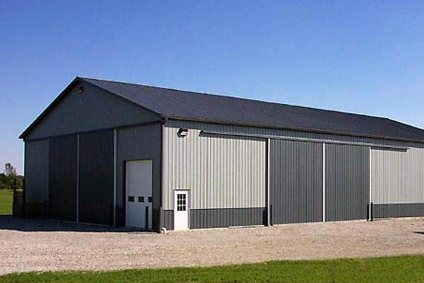 farm storage building in steel
